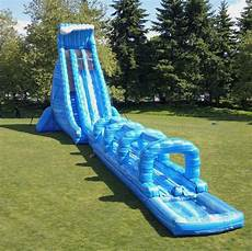 Blue Slides 100ft Long Blue Crush Extreme Water Slide Inflatable