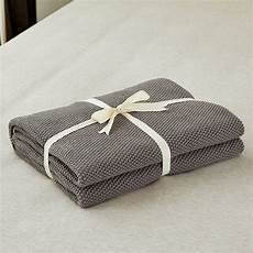 gray cotton cable knit throw blanket for sofa chair