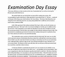 Essay Examination Analysis Of The Short Story Examination Day Gcse