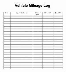 Truck Mileage Chart Free Printable Mileage Log Printable Year Calendar