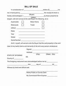 Template For A Bill Of Sale Free Printable Bill Of Sale Camper Form Generic
