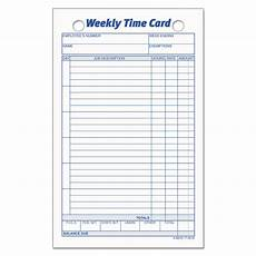 Time Card Tracker Tops Employee Time Card Weekly 4 1 4 X 6 3 4 100 Pack