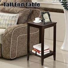 chair side table narrow end table small space bed