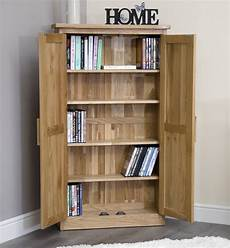 arden solid oak furniture cd dvd storage cabinet cupboard