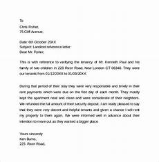 Letter Of Recommendation Landlord Landlord Reference Letter Template Business