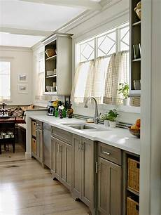 gray kitchen cabinets better homes gardens