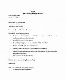 Template Of An Agenda Board Meeting Agenda Template 10 Free Word Pdf