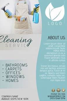 Free Cleaning Flyer Templates Copy Of Cleaning Service Flyer Template Blue Postermywall