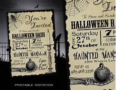 Free Printable Halloween Party Invitations For Adults Halloween Party Invitation Diy Halloween Invitations