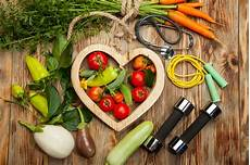 Exercise And Food Sport And Diet Fresh Vegetables Healthy Lifestyle