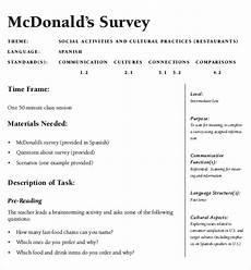 Restaurant Surveys Examples 18 Restaurant Survey Templates Pdf Word Free