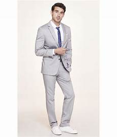 Light Grey Linen Suit Express Light Gray Oxford Cloth Producer Suit Jacket In