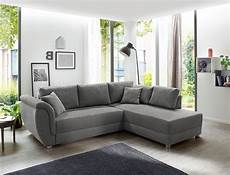 wohnlandschaft tapio 256x196 cm grau schlafsofa sofa