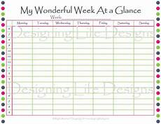 Day At A Glance Template Week At A Glance Printable Sheet Pdf Now Available In