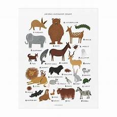 Rifle Paper Co Animal Alphabet Chart Animal Alphabet Chart Print Alen Alphabet Print