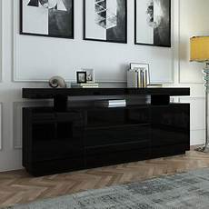 200cm sideboard buffet cabinet high gloss front storage