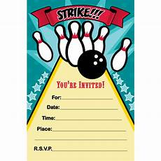 Free Printable Bowling Party Invitations For Kids Free Bowling Birthday Party Invitation Templates Party