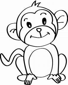 Mono Para Colorear Dibujos De Monos Dibujos A L 225 Piz De Monos Dibujos