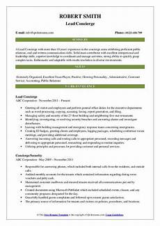 Concierge Resume Examples Concierge Resume Samples Qwikresume