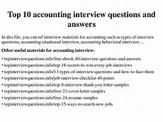 Interview Questions Accounting Top 10 Accounting Interview Questions And Answers