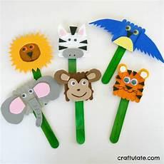 popsicle stick animal puppets allfreekidscrafts