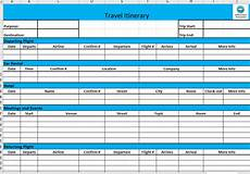 Detailed Itinerary Template Business Travel Itinerary Template Templates At
