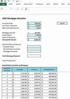 Mortgage Amortization Excel Download Get Your Free Microsoft Excel 2013 Mortgage Calculator