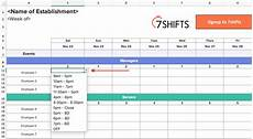 Work Shift Calendar Template Shift Schedules The Ultimate How To Guide 7shifts