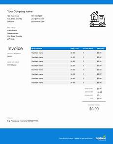 moving company receipt template moving company invoice template free send in