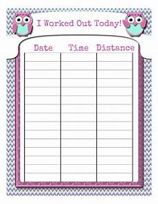 Printable Exercise Tracker My Fashionable Designs Free Printable Workout Tracking Sheet
