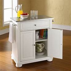 white kitchen island with stainless steel top alexandria stainless steel top portable kitchen island