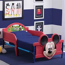 mickey mouse plastic 3d toddler bed delta children