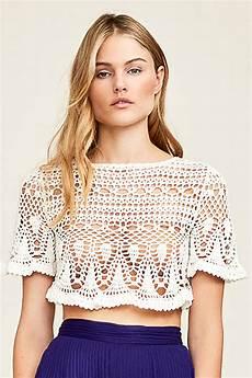 julianne crochet crop top tadashi shoji