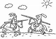 Kostenlose Malvorlagen Ritter Ausmalbild Ritter Ein Ritterturnier Zum Ausmalen
