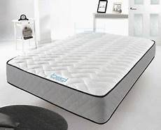 memory foam mattress quilted sprung single 3ft