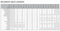 Sole Length Of Ski Boot Chart Mondopoint What Is It And How Is It Measured The