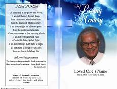 Memorial Pamphlet Template Free Cross Single Fold Funeral Program