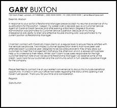 Relationship Manager Cover Letter Relationship Manager Cover Letter Sample Cover Letter