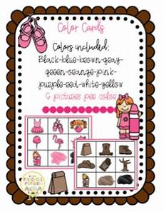 Cards And Pockets Color Chart Color Cards For Pocket Chart By Preschool Printable Tpt