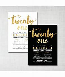 21 Bday Invites 21st Birthday Invitations Designs