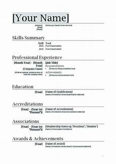Easy Resume Template Word Word Document Resume Template Word Document Template
