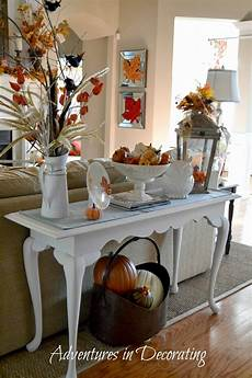 adventures in decorating a fall vignette that didn t cost