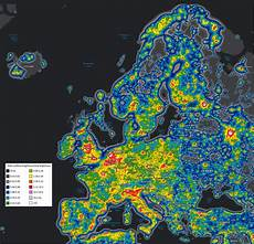 Light Pollution Map Iceland Light Pollution Map Of Europe 1598x1540 Mapporn