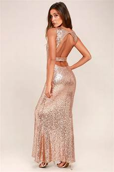 Light Gold Sequin Dress Stunning Sequins Dress Rose Gold Dress Mermaid Dress
