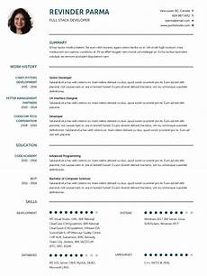 Professional Cv Forms Cv Templates 20 Options To Improve Your Cv Visualcv
