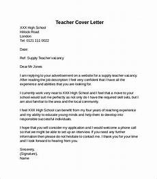 School Application Cover Letter Free 14 Teacher Cover Letter Examples In Pdf Ms Word