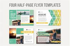 One Page Flyer Four Half Page Flyer Templates Templates Creative Market