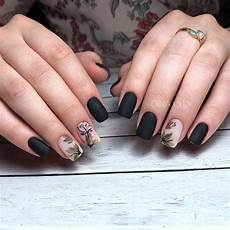 Black Nail Design Ideas 50 Dramatic Black Acrylic Nail Designs To Keep Your Style