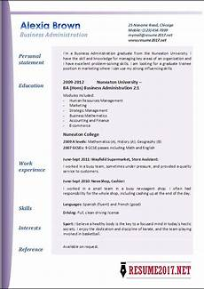 Example Of Business Resume Business Administration Resume Examples 2017