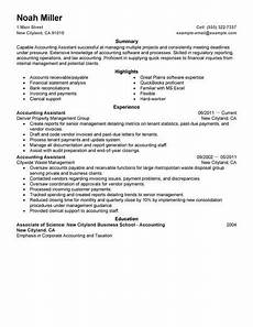 Accounts Assistant Cv Example Best Accounting Assistant Resume Example Livecareer